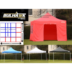 Bulhawk® Premium 40mm 4m x 4m Heavy Duty Commercial Grade Pop Up Gazebo Marquee