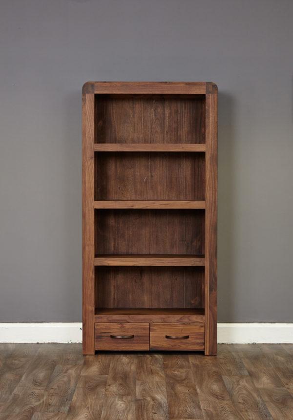 Shiro Walnut Large 2 Drawer Bookcase