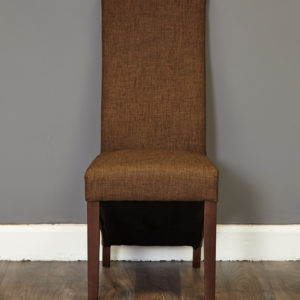 Walnut Full Back Upholstered Dining Chair - Hazelnut (Pack of Two)