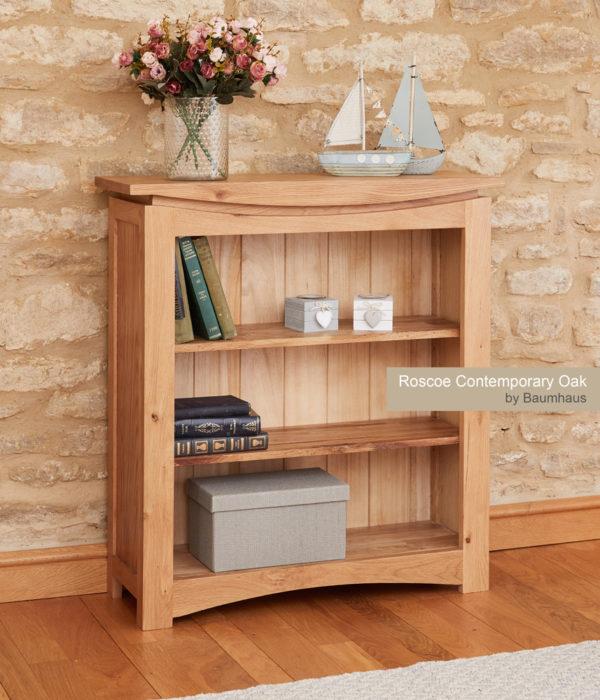 Roscoe Contemporary Oak Small Bookcase