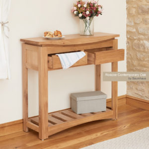 Roscoe Contemporary Oak Console Table