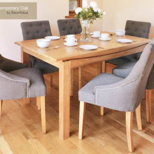Roscoe Contemporary Oak Large Dining Table (1.5M / 6 seater)