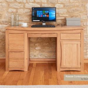 Roscoe Contemporary Oak Home Office Desk
