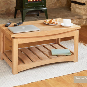 Roscoe Contemporary Oak Coffee Table