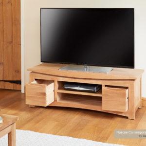 Roscoe Contemporary Oak Widescreen TV Cabinet