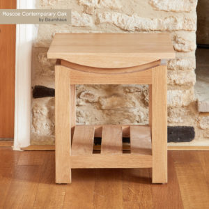 Roscoe Contemporary Oak Lamp Table 2