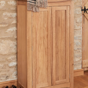 Roscoe Contemporary Oak Shoe Storage Cupboard