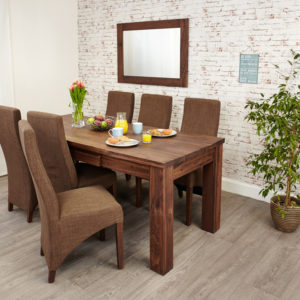 Mayan Walnut Extending Dining Table