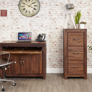 Mayan Walnut Hidden Home Office