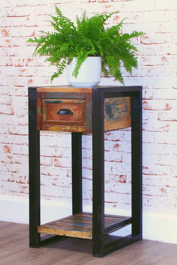Urban Chic Plant Stand/Lamp Table