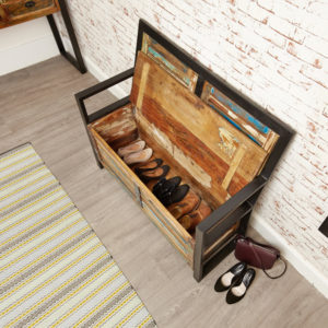 Urban Chic Storage Monks Bench (with shoe storage)