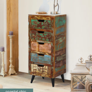 Coastal Chic 5 Drawer Tallboy