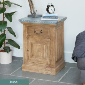Kuba Lamp Table / Bedside Table