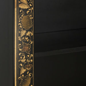 The Nine Schools Oriental Decorated Black Bookcase
