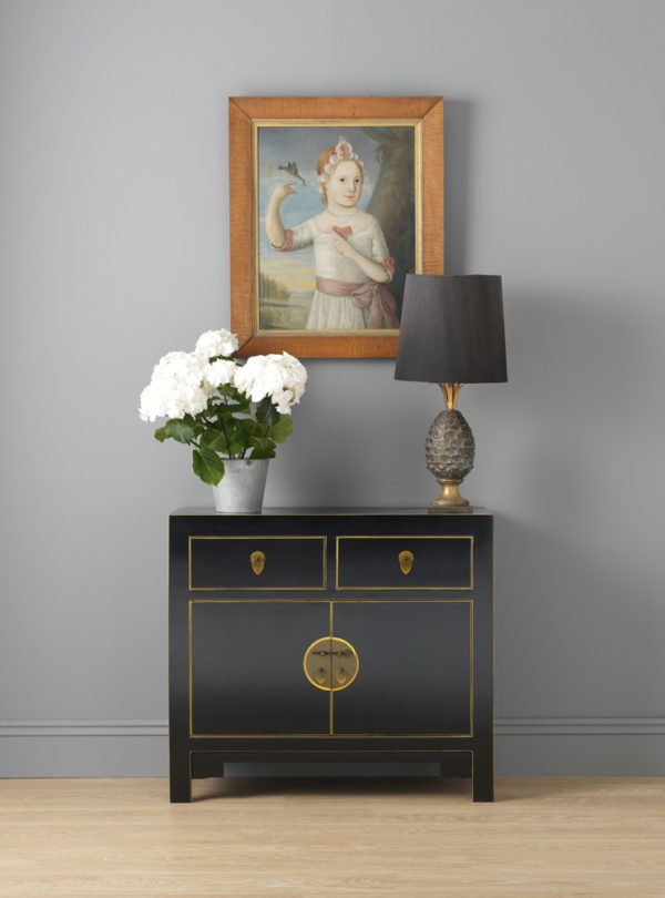 The Nine Schools Qing Black and Gilt Small Sideboard 3