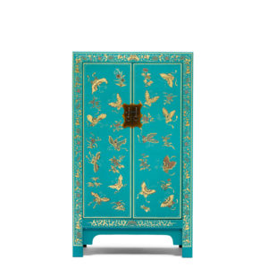 The Nine Schools Oriental Decorated Blue Medium Cabinet