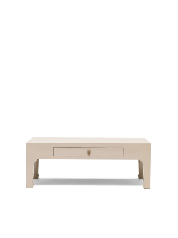 The Nine Schools Qing Oyster Grey Coffee Table with Drawer