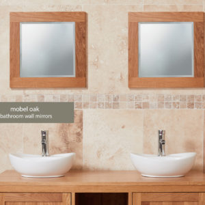 Solid Oak Bathroom Mirror (Small)