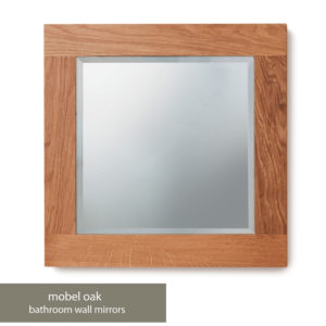 Solid Oak Bathroom Mirror (Small)