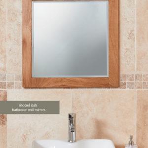 Solid Oak Bathroom Mirror (Large)