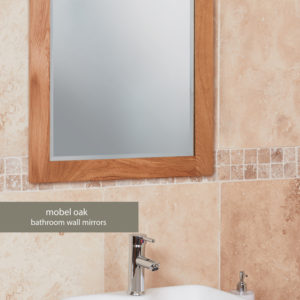 Solid Oak Bathroom Mirror (Large)