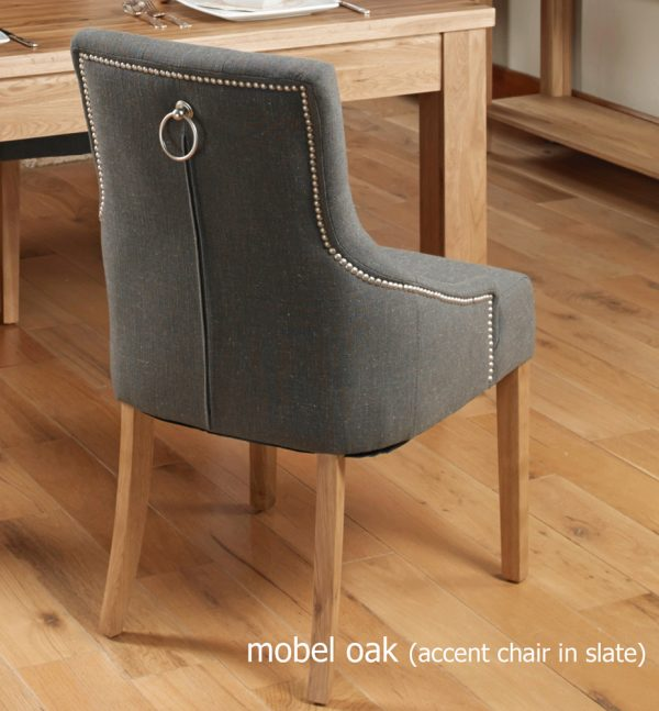Oak Grey Chair (Pack of two)