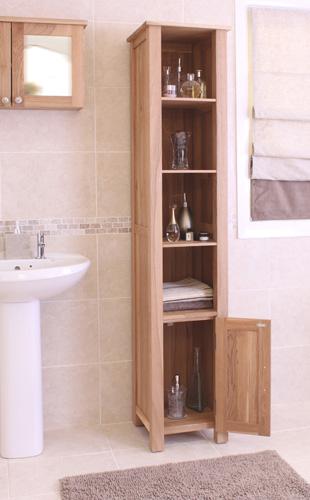 Mobel Oak Open Bathroom Unit Tall