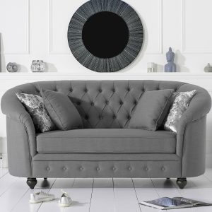 Casey Grey Linen 2 Seater - PT32113