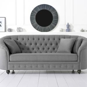 Casey Grey Linen 3 Seater - PT32114 (a)
