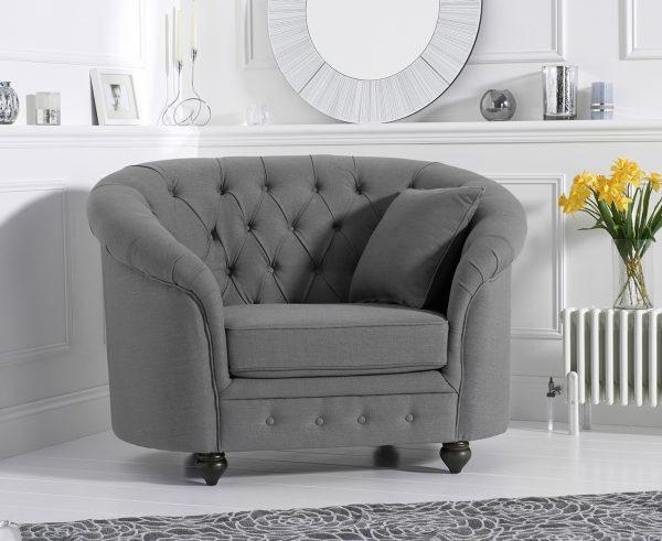 Casey Grey Linen Arm Chair - PT32112