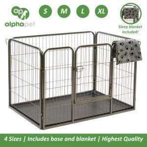 ALPHAPET® Heavy Duty Pet Dog Puppy Pen Whelping Cage Playpen Enclosure inc Base