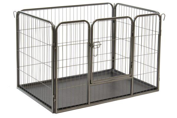 ALPHAPET® Heavy Duty Pet Dog Puppy Pen Whelping Cage Playpen Enclosure inc Base